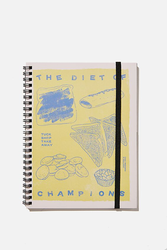 A5 Spinout Notebook Recycled, RG AUS DIET OF CHAMPIONS
