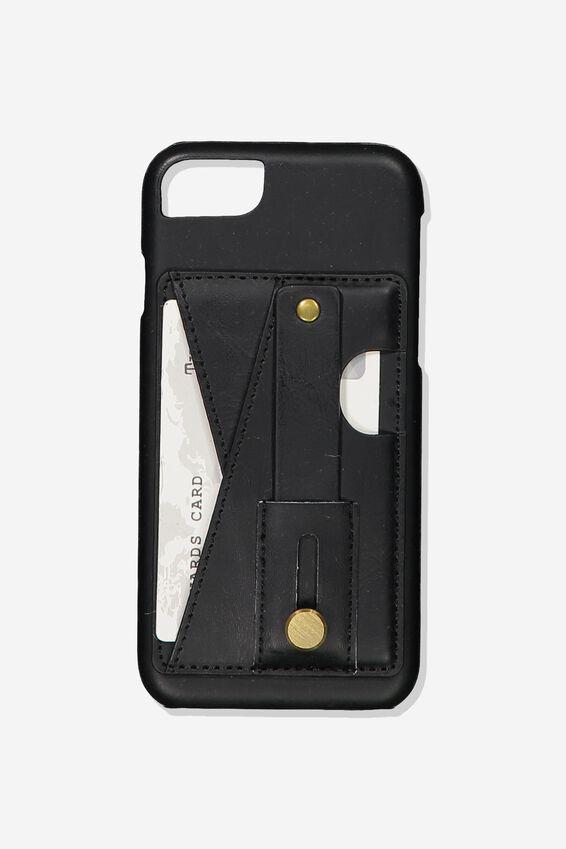 Cardholder Grip Case Iphone 6, 7, 8, BLACK