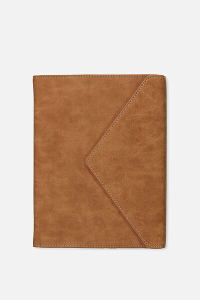 Magnetic Close Journal & Pen, TOOLED FLORAL TAN