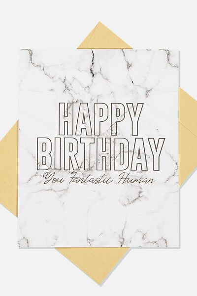 Nice Birthday Card, WHITE MARBLE