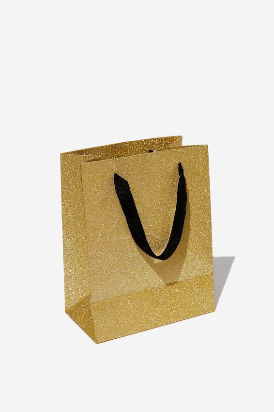 Stuff It Gift Bag - Small, ROSE GOLD GLITTER