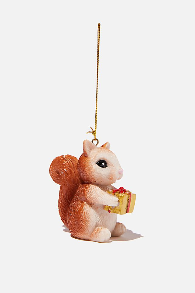 Resin Christmas Ornament, CHRISTMAS SQUIRREL