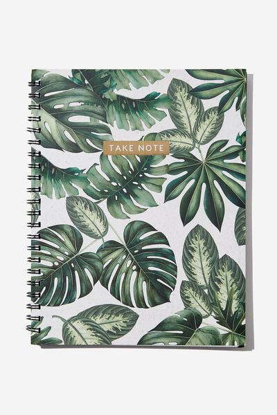 College Ruled Campus Notebook - V, MONSTERA NOTES
