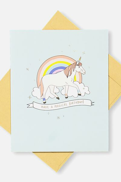 Nice Birthday Card, MAGICAL UNICORN BIRTHDAY