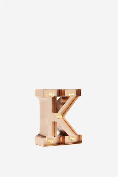 Mini Marquee Letters 10Cm, ROSE GOLD K