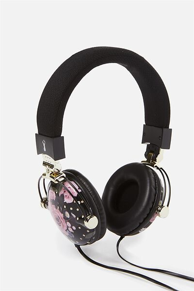 Tune Out Headphones, POLKA FLORAL