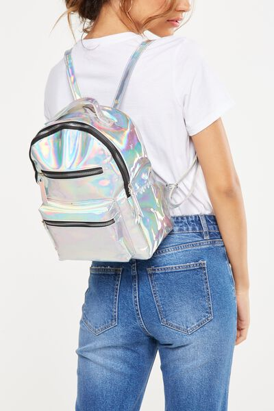 Mini Backpack, IRIDESCENT