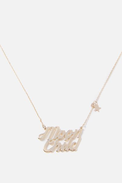 Novelty Necklace, MOON CHILD