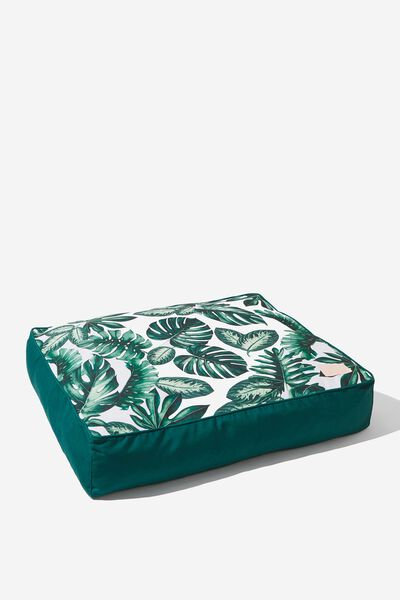 Large Printed Pet Bed, FOLIAGE