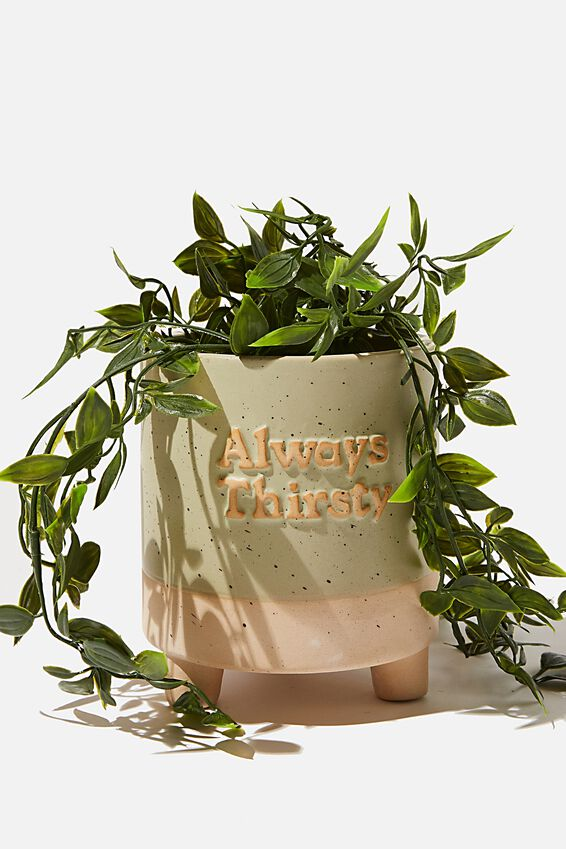 Midi Shaped Planter, ALWAYS THIRSTY GUM LEAF