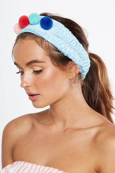 Beauty Head Band, MULTI POM