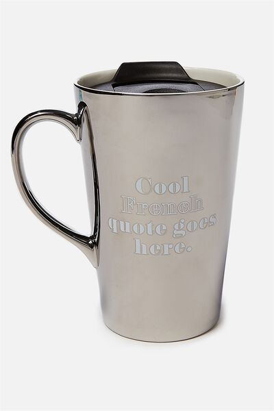 Nomad Travel Mug, COOL FRENCH QUOTE