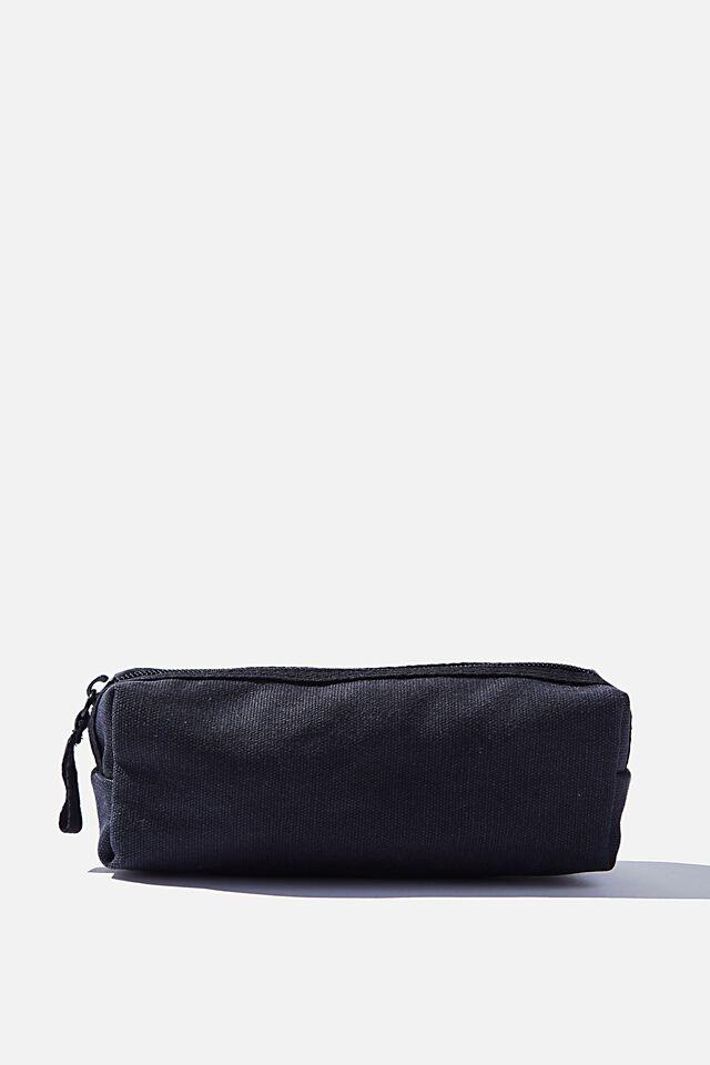 Bailey Pencil Case, BLACK CANVAS