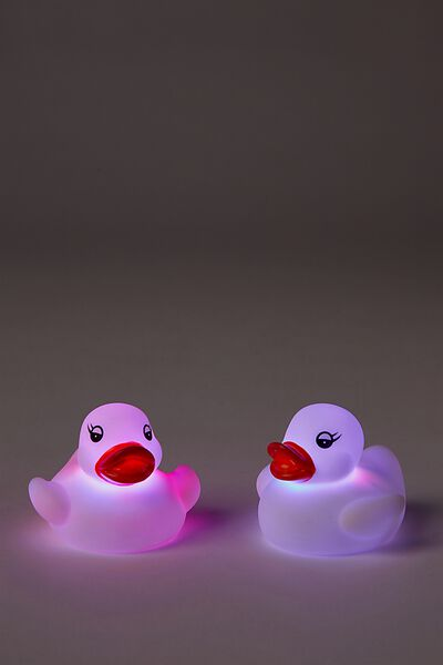 Bath Lights Set Of 2, WHITE DUCK