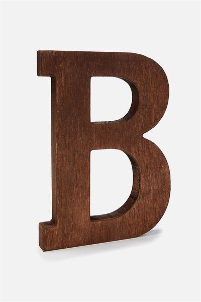 Letterpress Wooden Letter, VINTAGE WOOD B