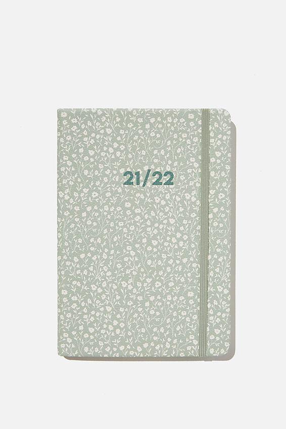 2021 22 A5 Weekly Buffalo Diary, GUM LEAF MEADOW DITSY