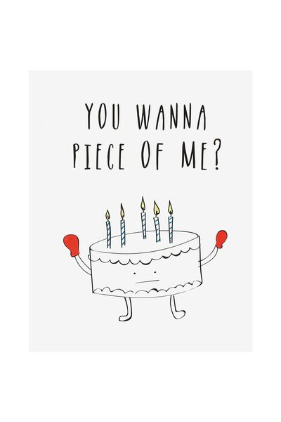 Funny Birthday Card, PIECE OF ME