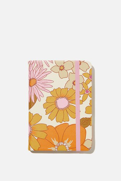 "A6 Buffalo Journal (5.8"" x 4.1""), PR STEVIE FLORAL PINK ORANGE"