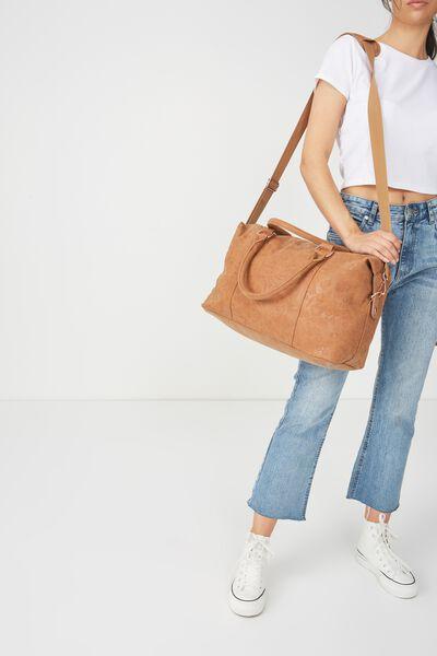 Weekend Away Duffel Bag, MID TAN FLORAL