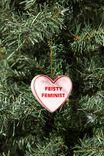 Resin Christmas Ornament, FEISTY FEMINIST HEART