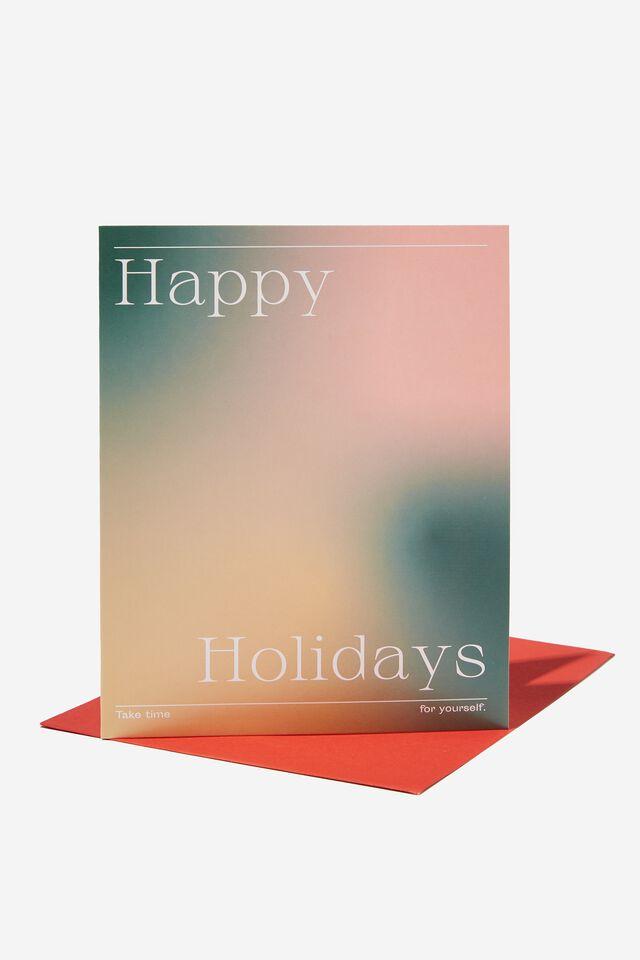 Christmas Card 2021, HAPPY HOLIDAYS SOLARISED