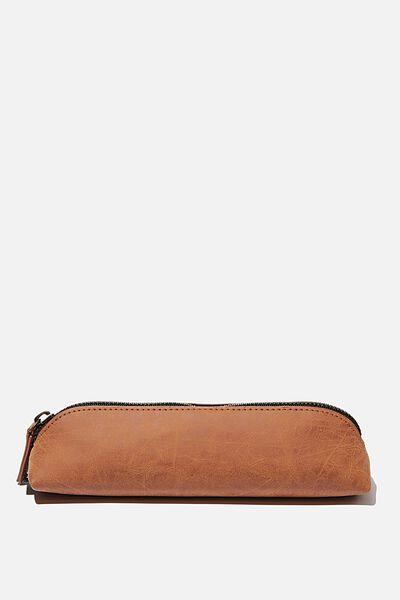 Buffalo Barrel Pencil Case, MID TAN