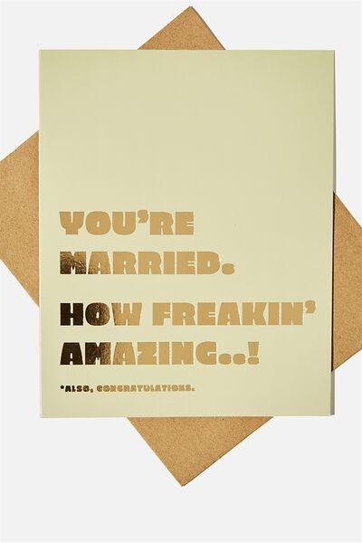 Wedding Card, YOURE MARRIED HOW AMAZING
