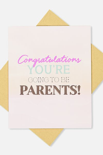 Baby Card, YOU'RE GOING TO BE PARENTS
