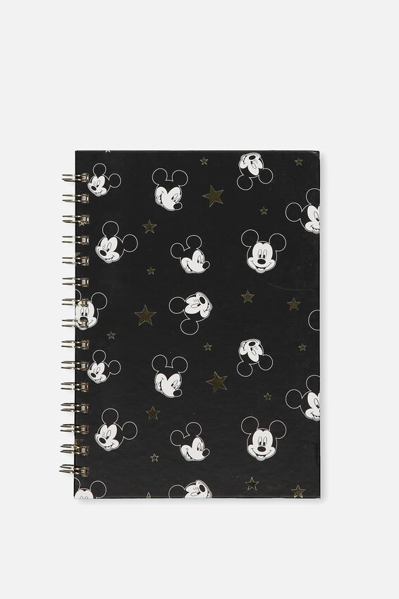 A5 Printed Spiral Notebook, LCN MICKEY HEAD STARS