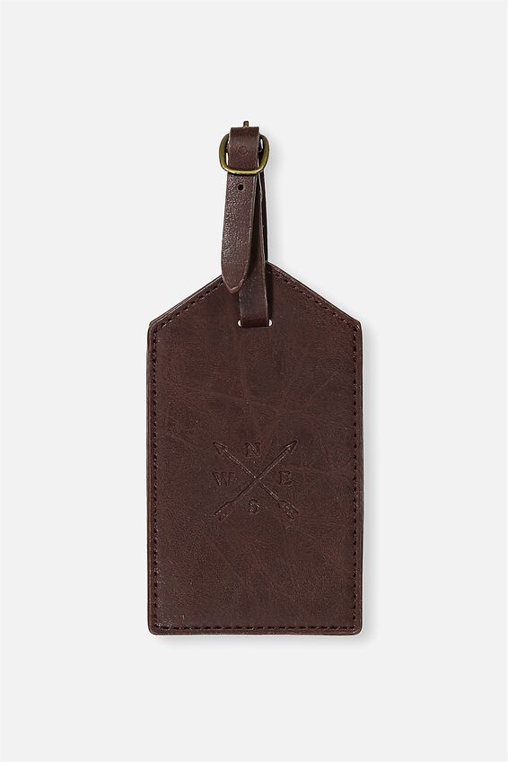 Luggage Tag, RICH TAN ARROWS