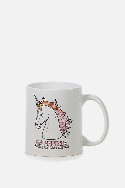 Anytime Mug, CAFFEINE UNICORN