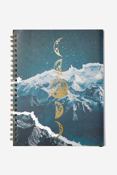 A4 Campus Notebook, MOON PHASES