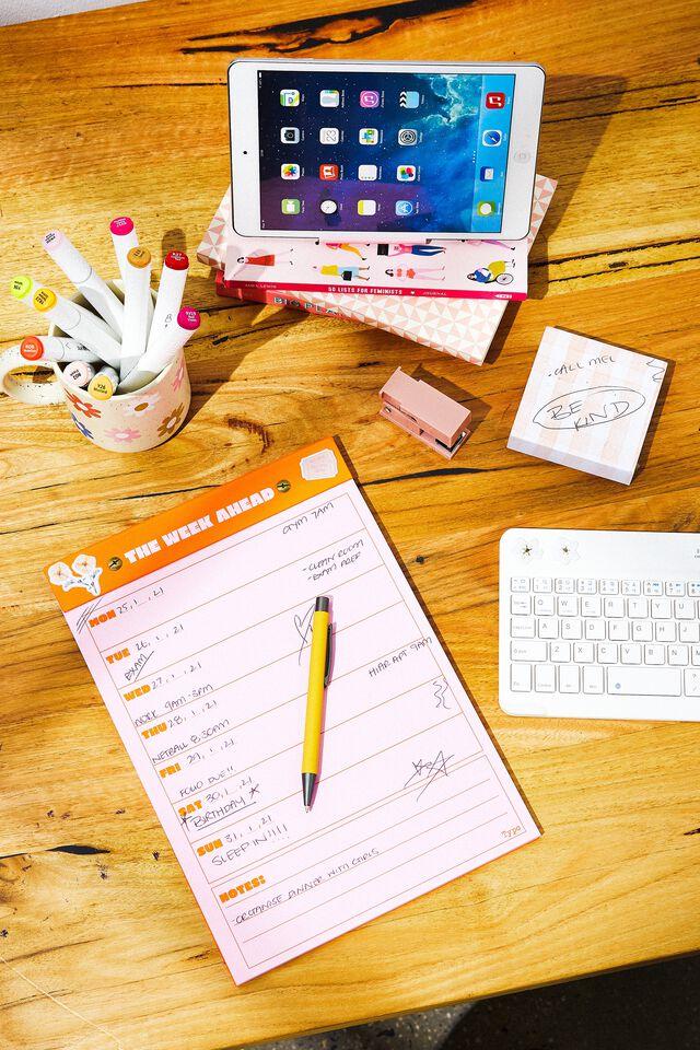 A4 Desk Planner, THE WEEK AHEAD