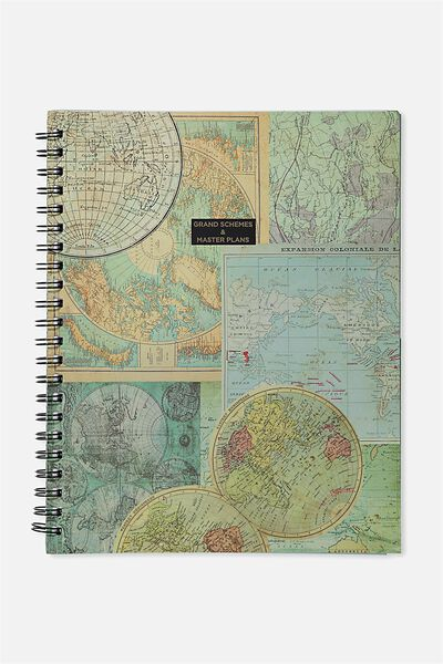 Large Campus Notebook - 240 Pages, MAP SCHEMES