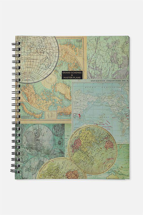 A4 Campus Notebook, MAP SCHEMES