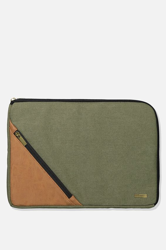 Premium Laptop Case 13 inch, KHAKI & TAN