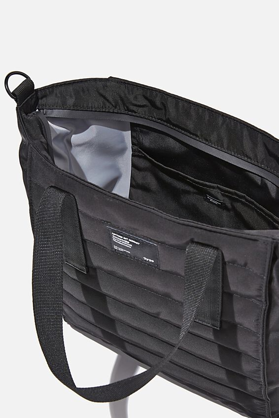 A5 Utility Book Tote, BLACK AND GREY