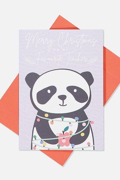 Christmas Card 2019, TEACHER PANDA
