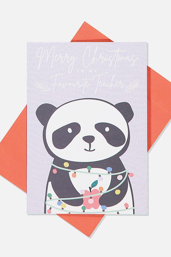 Christmas Card, TEACHER PANDA