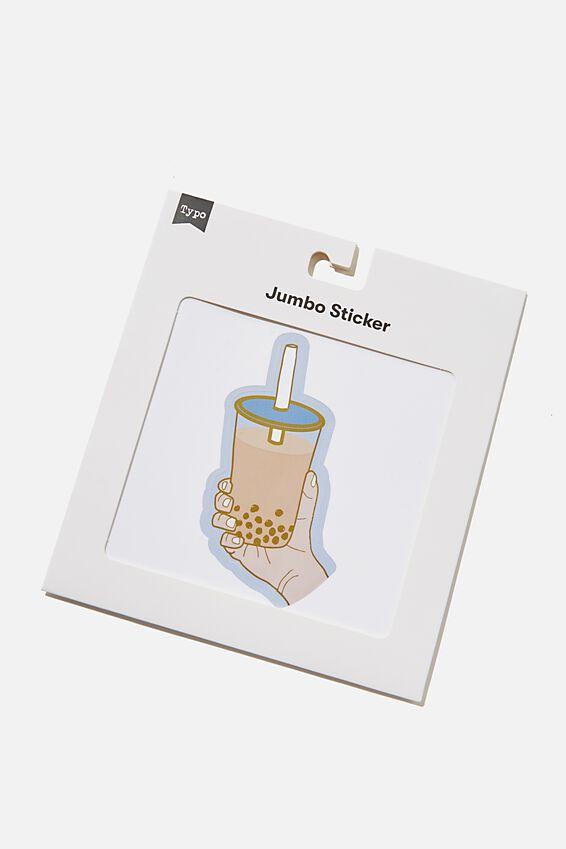 Jumbo Sticker, RG AS BUBBLE TEA
