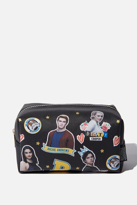 Riverdale Made Up Cosmetic Bag, LCN RIVERDALE SCRAPBOOK