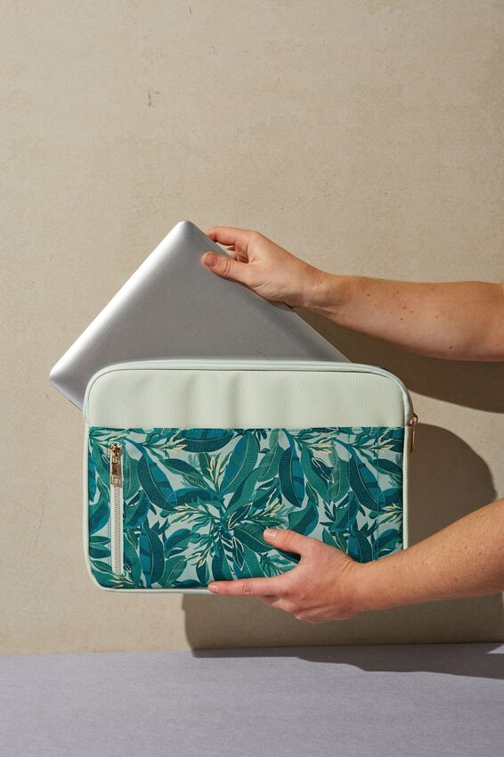 Take Charge Laptop Cover 13 inch, BONDI FOLIAGE WITH ICICLE