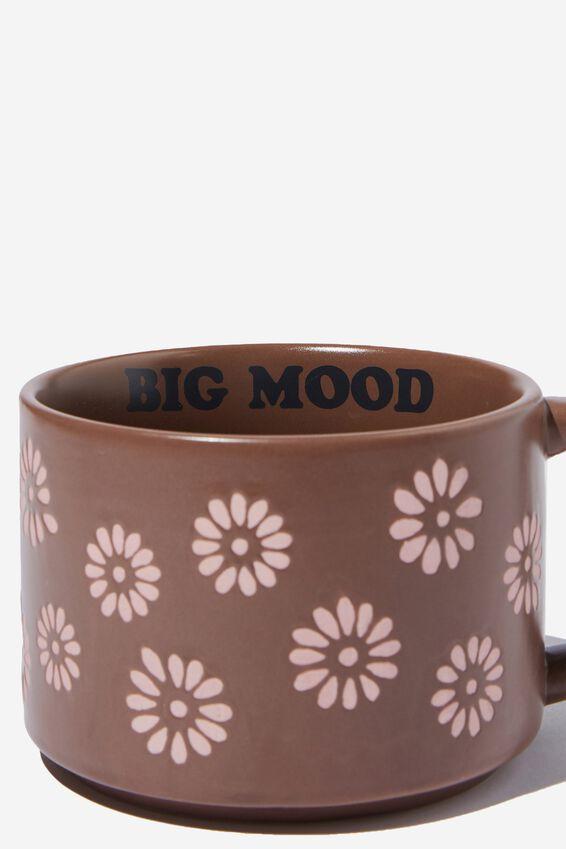Big Hit Mug, STAMPED DAISY