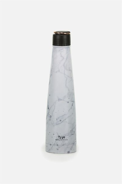 Triangle Metal Drink Bottle, SPOT MARBLE