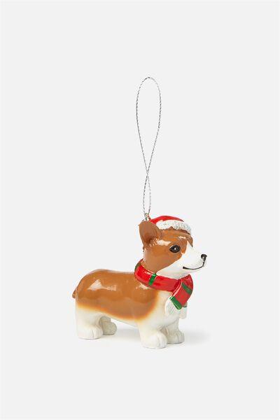 Christmas Ornament, CHRISTMAS CORGI