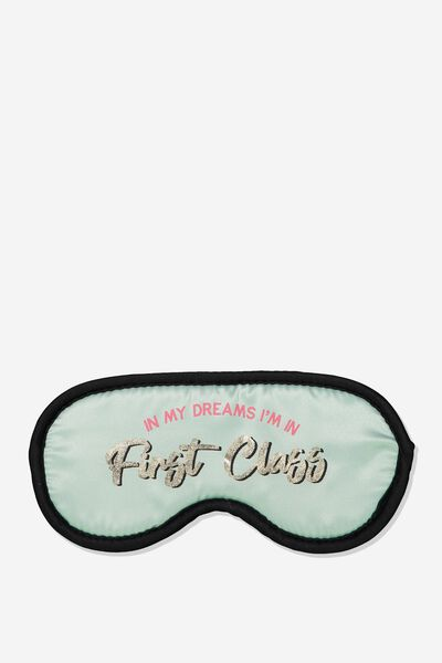 Premium Sleep Eye Mask, MINT FIRST CLASS