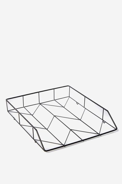 Metal Storage Desk Tray, BLACK