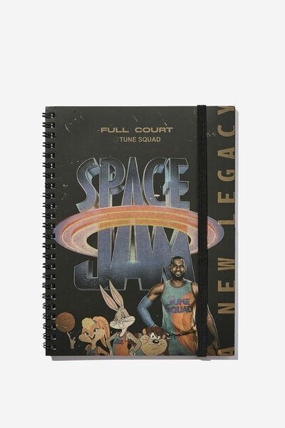 A5 Spinout Notebook Recycled, LCN WB SPACE JAM 2 POSTER