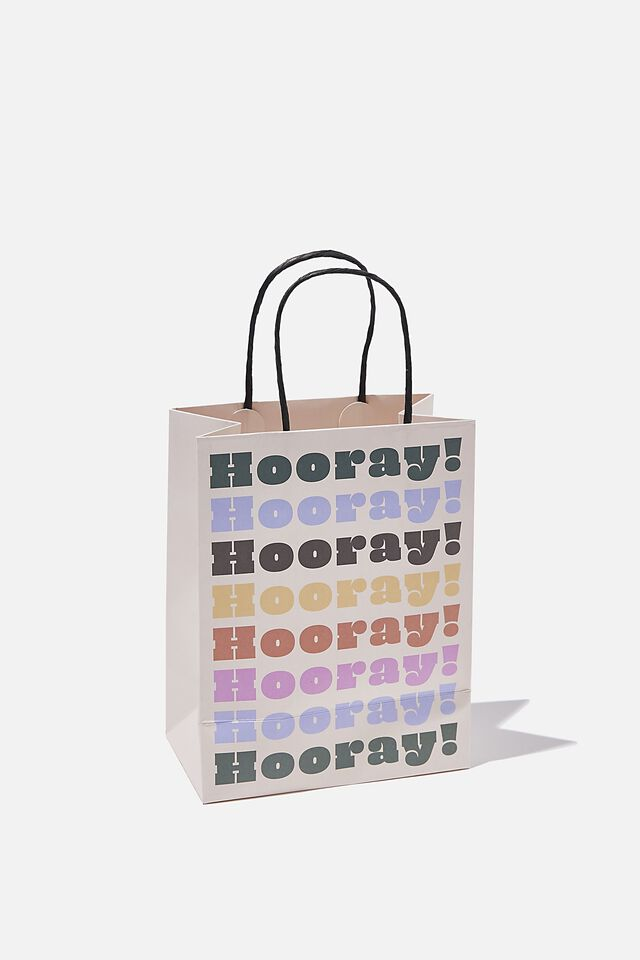 Get Stuffed Gift Bag - Small, HOORAY MULTI COLOUR REPEAT
