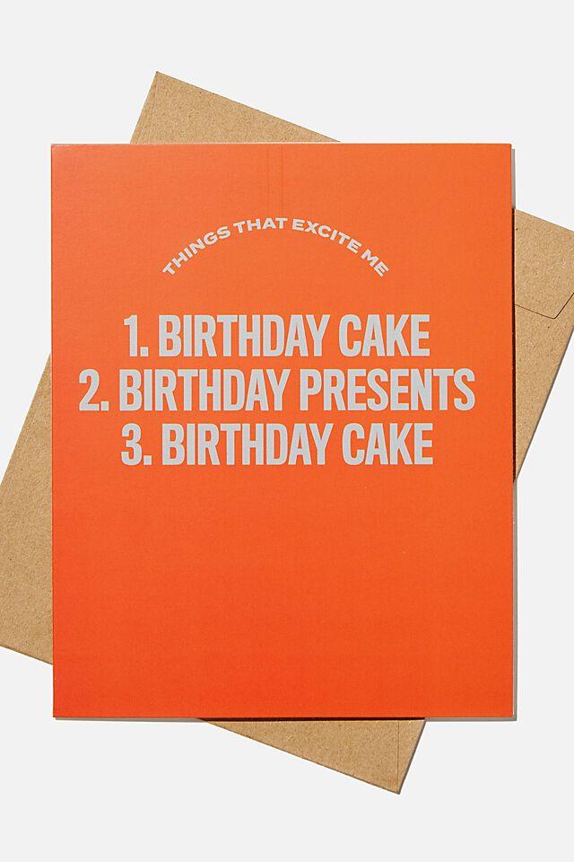 Nice Birthday Card, BIRTHDAY CAKE LIST